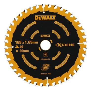 DEWALT EXTREME 2ND FIX CIRCULAR SAW BLADE 165MM 20MM BORE 40T