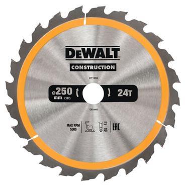 DEWALT CONSTRUCTION CIRCULAR SAW BLADE STATIONARY - FAST RIP 250MM 24T