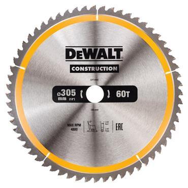 DEWALT CONSTRUCTION CIRCULAR SAW BLADE STATIONARY - FINE FINISH 305MM 60T
