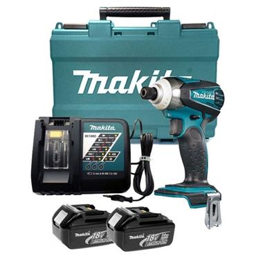 Makita DTD146RME 18v Impact Driver, 2x 4Ah Batteries, Charger, Kit-Box