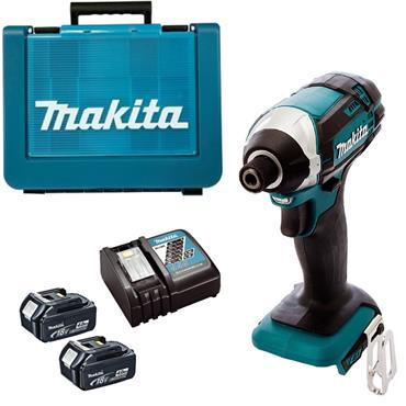 Makita DTD152RME 18v Impact Driver, 2x 4Ah Batteries, Charger, Kit-Box
