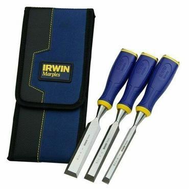IRWIN10503426 Marples MS500 Soft Touch Bevel Edge Chisel 3 Piece Set