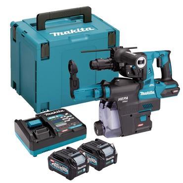 Makita HR004GD202 40v MaxXGT SDS Rotary Hammer 28mm, 2x 2.5Ah Batteries, Charger, Kit-Box