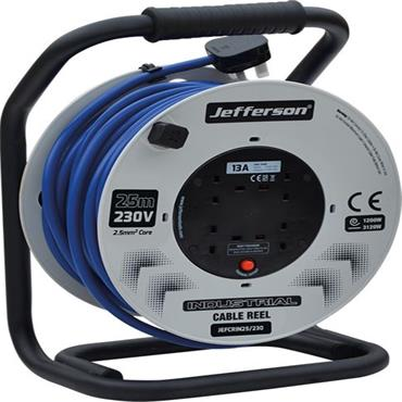 JEFFERSON JEFCRIN25/230 25m 230V Industrial Cable Reel