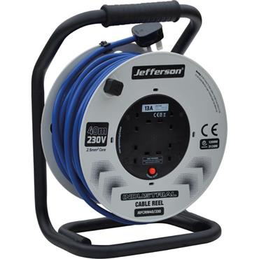 JEFFERSON JEFCRIN40/230 40m 230V Industrial Cable Reel