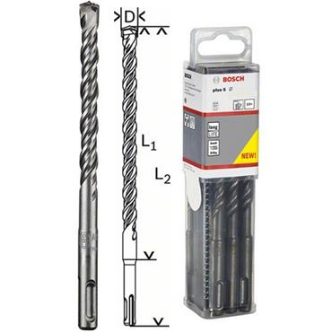 Bosch SDS Plus-5X Hammer Drill Bit (10 Pack)- Sizes From 5mm-16mm Ø in Various Lengths