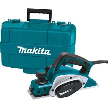 "Makita KP0800K 82mm (3 1/4"") Planer, Socket Wrench, Blade Gauge Assembly in Carry Case"