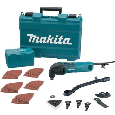 Makita TM3000CX4 Multitool with 57 Accessories in a Carry Case