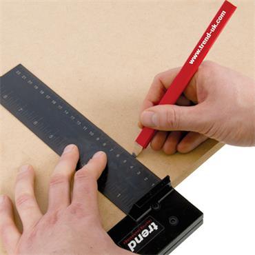 Trend Carpenters pencils red medium 3 pacK - PENCIL/CR/3