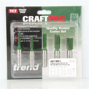 Trend 5 piece MT/JIG cutter set imperial  - SET/MT1X1/2TC