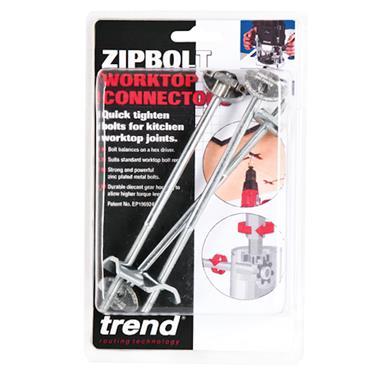Trend Zipbolt 170mm pack of three with hex bit - ZIP/170/3