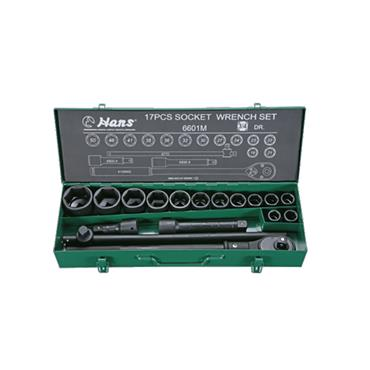"3/4"" DRIVE 17 PIECE 6 POINT IMPACT SOCKET SET 6601M"