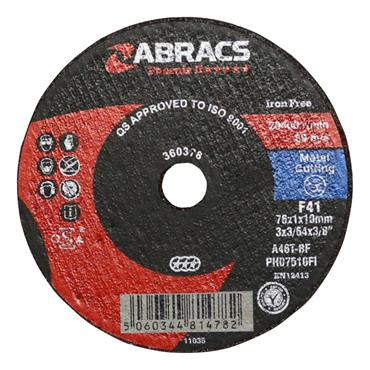 "3"" Cutting Discs 10 Pack Apt75fcm"