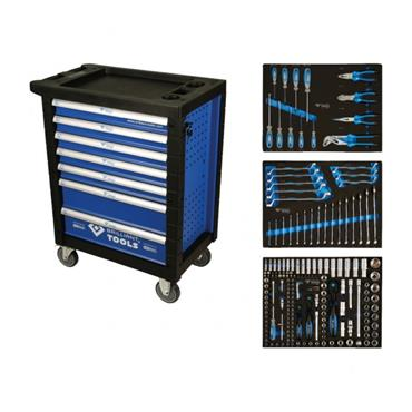 207 PIECE TOOL KIT IN 7 DRAWER TOOL TROLLEY BT153207