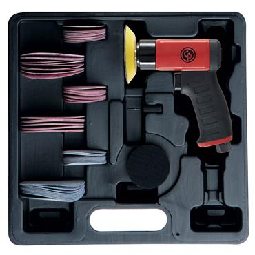 "CP7200S KIT MINI pistol RANDOM ORBITAL SANDER WITH 2"" and 3"" H&L PADS"