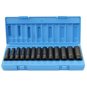 "3/8"" DRIVE 13 PIECE LONG REACH IMPACT SOCKET SET"