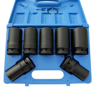 "1"" DRIVE 7 PIECE LONG REACH IMPACT SOCKET SET"