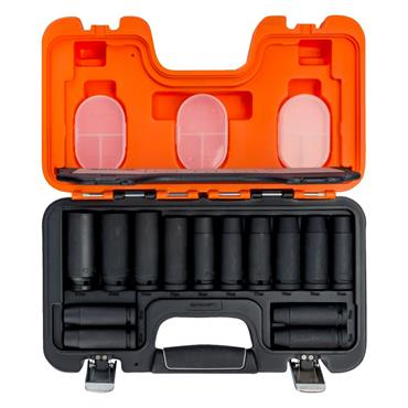 "1/2"" Square Drive Deep Impact Socket Set Phosphate Finish - 14 Pcs  DD/S14"