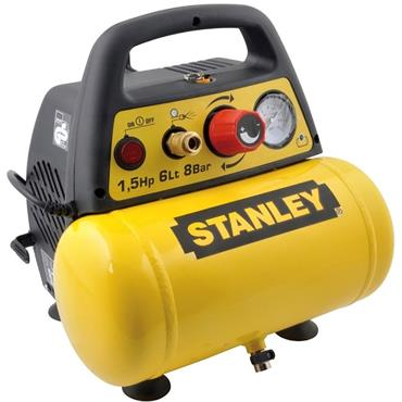 STANLEY 6 LTR 8BAR OILLESS AIR COMPRESSOR DN200-8-6