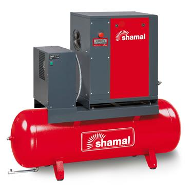 SHAMAL SCREW COMPRESSOR WITH TANK 7.5HP 10BAR 270LTR 5.5-10-270ES