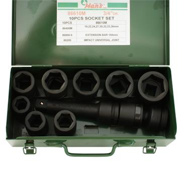 "3/4"" DRIVE 10 PIECE IMPACT SOCKET SET"
