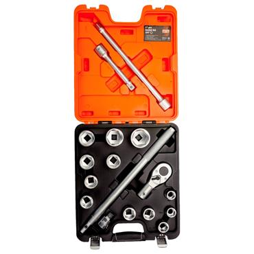 "3/4"" Square Drive Socket Set with Ratchet Head  SLX 17"