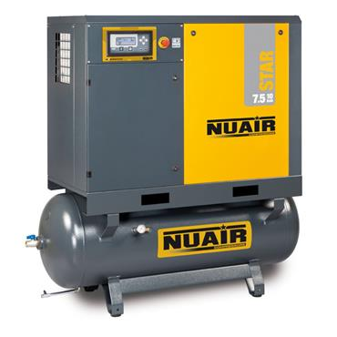 ROTARY SCREW COMPRESSOR WITH TANK AND DRYER STAR 7.5-10-270ES
