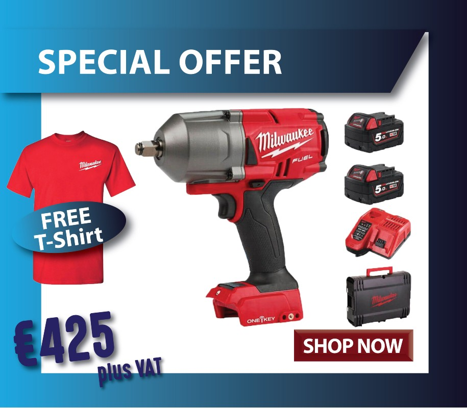 Milwaukee impact wrench and free t shirt