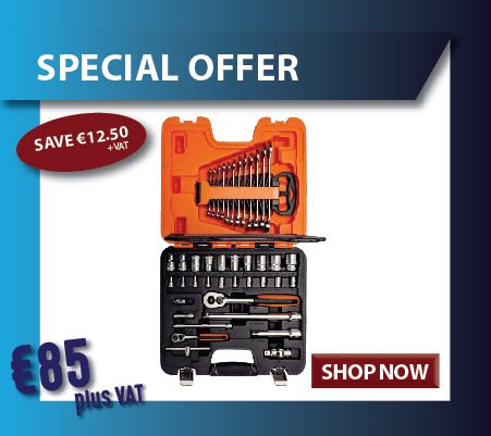 "1/4 & 1/2""  socket set on special offer of €85 + vat"