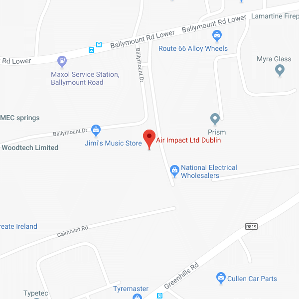 Map of Air Impact Ltd. Dublin location