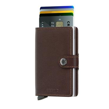 SECRID LEATHER ORIGINAL CARD WALLET - BROWN