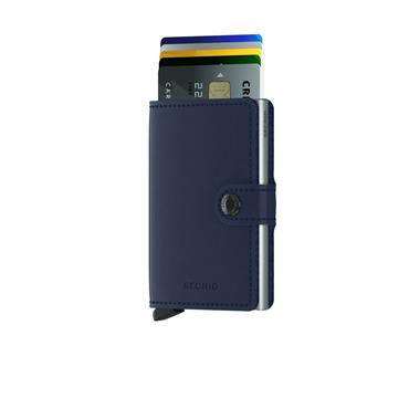 SECRID LEATHER ORIGINAL CARD WALLET - NAVY
