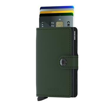 SECRID LEATHER MATTE CARD WALLET - GREEN