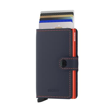 SECRID LEATHER MATTE CARD WALLET - ORANGE