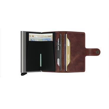 SECRID LEATHER VINTAGE CARD WALLET - BROWN