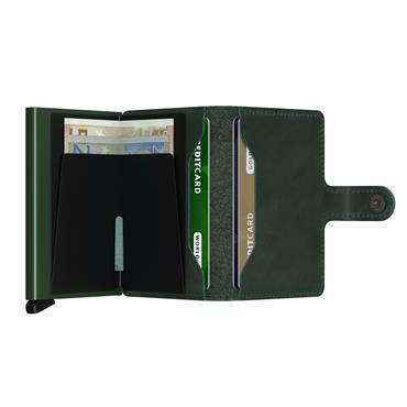 SECRID LEATHER ORIGINAL CARD WALLET - GREEN