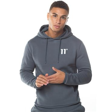 11 DEGREES CORE PULLOVER HOODIE - GREY