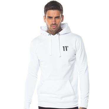 11 DEGREES CORE PULLOVER HOODIE - WHITE