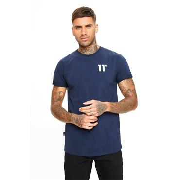 11 DEGREES CORE MUSCLE T-SHIRT - NAVY