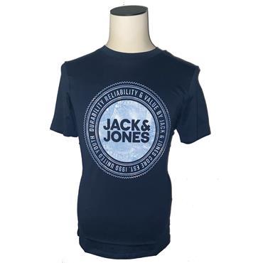 JACK&JONES BRAND CREW  T-SHIRT - NAVY