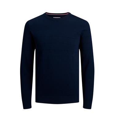 JACK&JONES SAILOR KNIT CREW NECK - NAVY