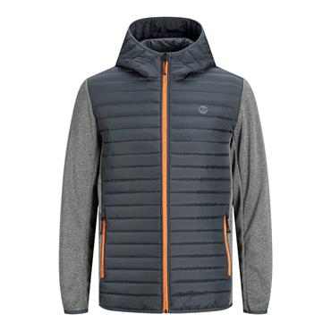 JACK AND JONES MULTI QUILTED JACKET - GREY