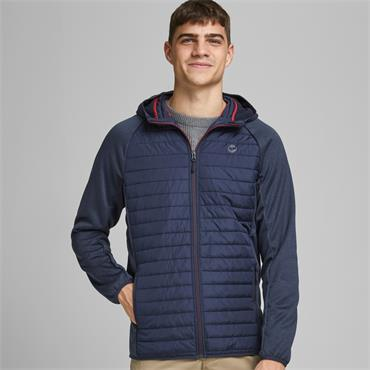 JACK AND JONES MULTI QUILTED JACKET - NAVY