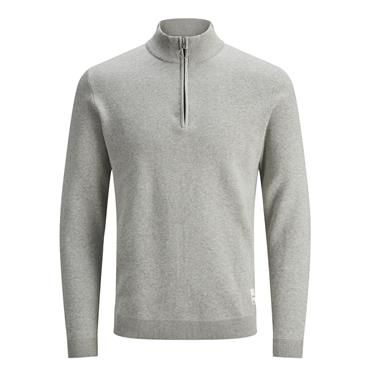 JACK&JONES ROY HIGH NECK KNIT - GREY
