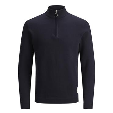 JACK&JONES ROY HIGH NECK KNIT - NAVY