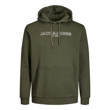 JACK&JONES BANK SWEAT HOODIE - GREEN