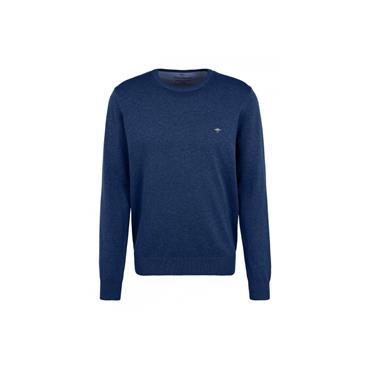 FYNCH HATTON ROUND NECK JUMPER - BLUE