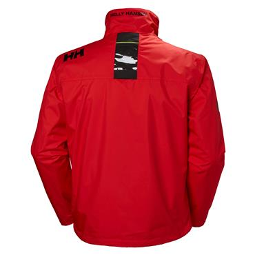 HELLY HANSEN CREW MIDLAYER JACKET - RED