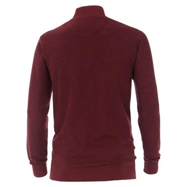 CASA-MODA STRICKTROYER 1/4 ZIP KNIT - RED