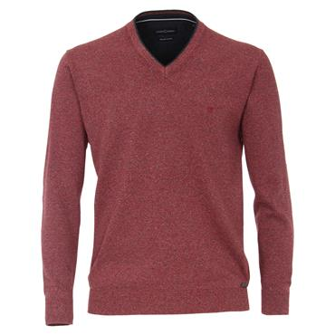 CASA-MODA V-NECK KNIT - RED